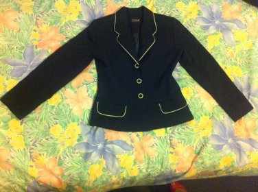 Black and Green / Lime Ladies Tailored Fitted Jacket �Detour� - Size 10