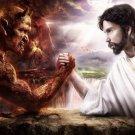 Good Vs Evil T-Shirt/Sweatshirt – God/Devil/Jesus/Satan – Size L