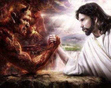 Good Vs Evil T-Shirt/Sweatshirt � God/Devil/Jesus/Satan � Size L