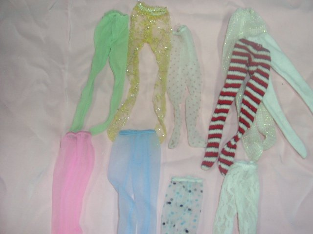Vintage Barbie Hosiery,Towels & Aprons Lot