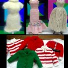 Vintage Barbie Handmade Knitted Clothing Lot