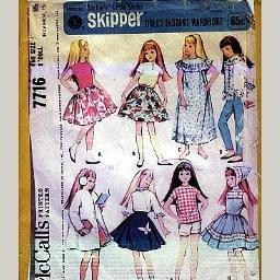 Vintage and New Barbie & Skipper Sewing Patterns