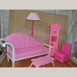 Barbie Pink Living Room Lot