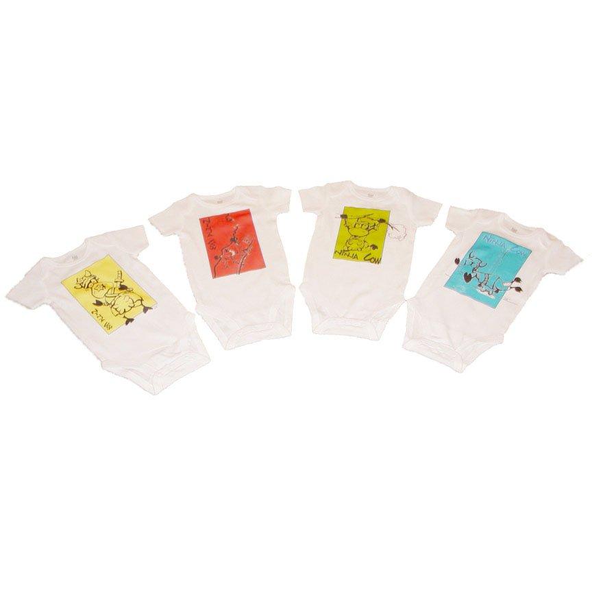 """""""Ninja Cow"""" Onesies (4-pack)"""
