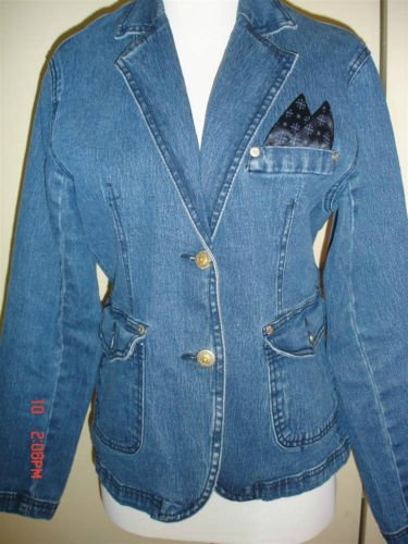 DIANE GILMAN Denim Blazer, EUC Pre-owned!