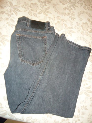 CALVIN KLEIN Black Jeans 36 X 30, Pre-Owned