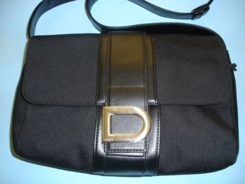 DKNY Black Fabric Flap Handbag, Pre-owned
