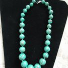 Mosaic Turquoise Graduated Bead Necklace, EUC!