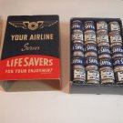 Vintage Life Savers Pep O Mints Candy Mini Rolls, New in Box.  Western Airlines