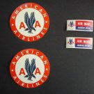 Vintage Original AMERICAN AIRLINES Luggage & AIRMAIL Stickers. (4)