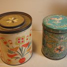 Vintage Pennsylvania-Dutch-styled Tins (2) Fluffo Proctor & Gamble/ Dutch Candies , PA
