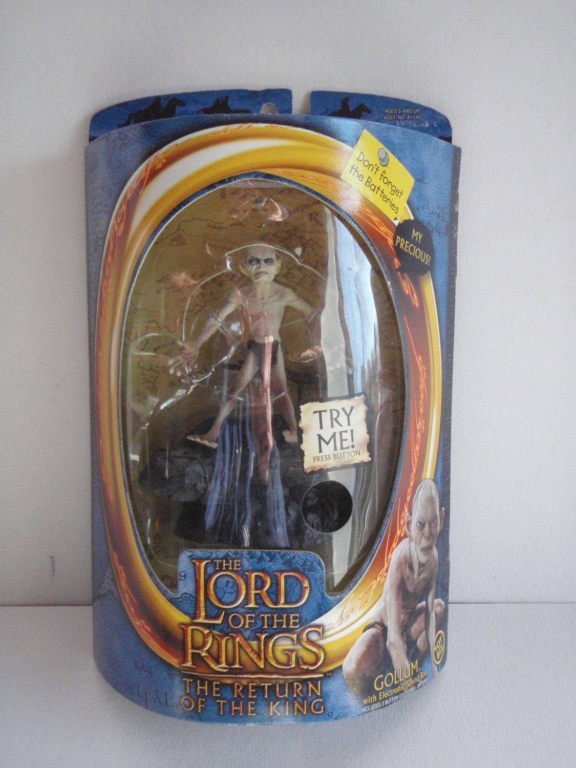 The Lord Of The Rings The Two Towers Gollum Electric Sound MOC Toy Biz �MY PRECIOUS�