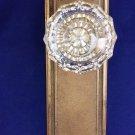 Vintage COPLEY/ RUSSWIN Door Back-plate & Crystal Knob. Bronze/ Brass