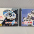 TOPPS NFL CYBERCARDS Dallas Cowboys. Emmitt Smith 1996 card #3 and 1997 Series 2. CD-Roms