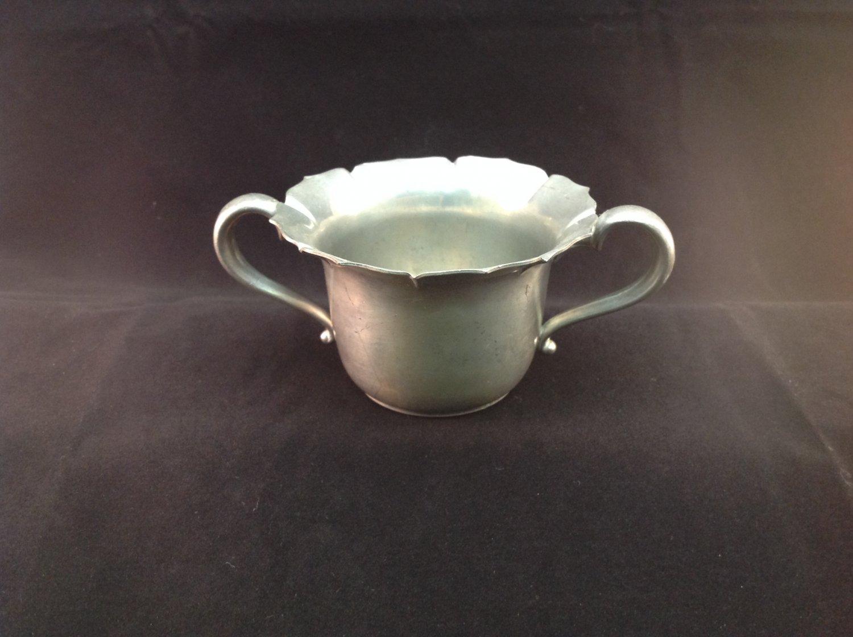 Vintage Alloy Art Pewter Corp. Sugar Bowl