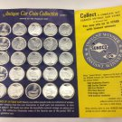 Vintage SUNOCO Antique Car Coin Collection, with collector card. 21 Coins, Series 1.