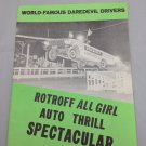 "Vintage ROTROFF "" All Girl Trill  Auto Spectacular"" 1964  Kay Keiser, C. Rotroff. Show Program."