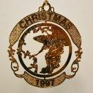 Hallmark 1997 Ensemble ~ Midnight Angel ~ Holiday Ornament ~ USPS- Brass