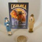 Hallmark 1997 Casablanca – Miniature- Bogart, Bergman & Movie Poster Ornaments