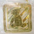 Hallmark Ensemble 1998 USPS Teddy Bear Christmas Tree Ornament 1997 Bonus Midnight Angel Brass