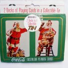 Coca Cola 1994 Playing Cards Christmas Nostalgia Santa 2 Decks & Tin. Sealed NEW