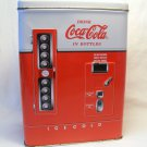 Vintage 1997 Coca-Cola Collectible, COKE Soda Vending Machine Hinged Tin