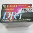 FUJI Audio Cassette DR-I 90 Minute 6-Pack Normal Bias Extra-slim - New Sealed