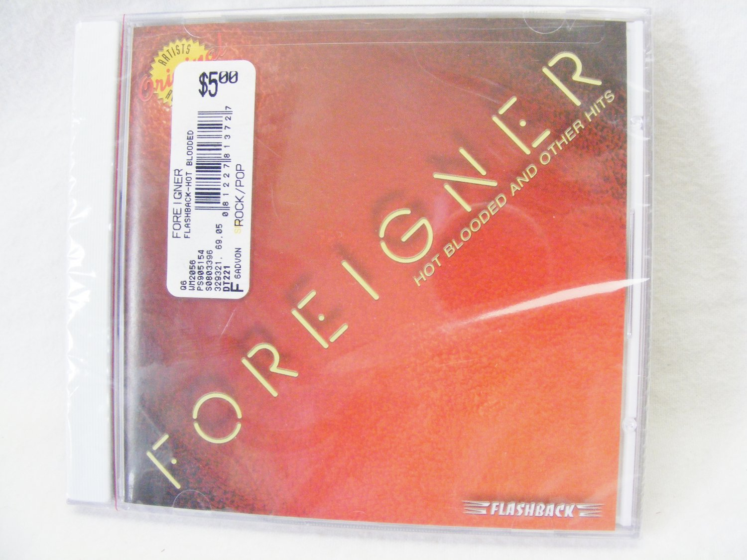 Hot Blooded and Other Hits by Foreigner (CD, 2004, Rhino Flashback) NEW Sealed