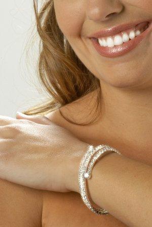 Wrap Around Rhinestone Bracelet