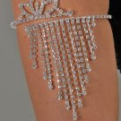 Crown-Top Rhinestone Arm Band
