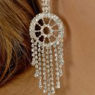 Pinwheel Rhinestone Earrings