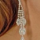Marquis Drop Rhinestone Earrings