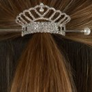 Heart Crown Rhinestone Bun Cover