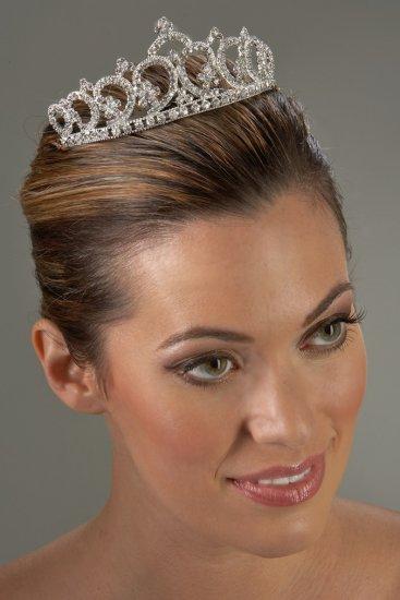 Regal Princess Rhinestone Tiara Comb