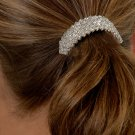 Diamond Pattern Rhinestone Ponytail Holder