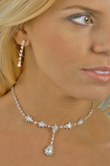 Swarovski Crystal Large Jewel Drop Necklace Set