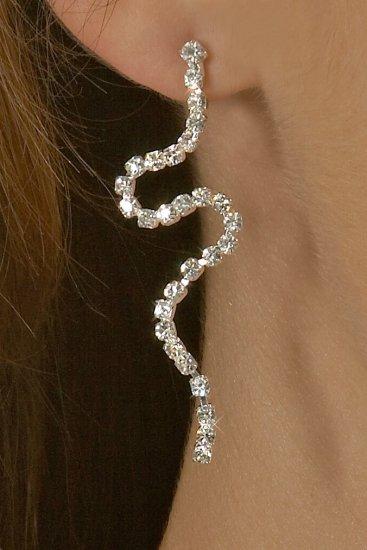 Curvy Rhinestone Earrings