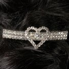 Single Heart Rhinestone Barrette