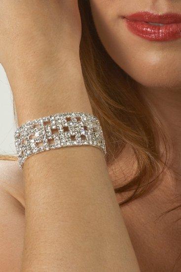 Fancy Cuff-Style Rhinestone Bracelet