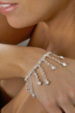Dangling Drops Rhinestone Bracelet
