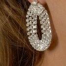 4-Chain Rhinestone Earrings