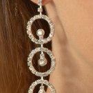Triple Circle Rhinestone Earrings