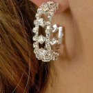 Fancy Double Row Rhinestone Earrings