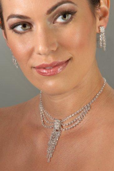 Goddess Rhinestone Necklace Set