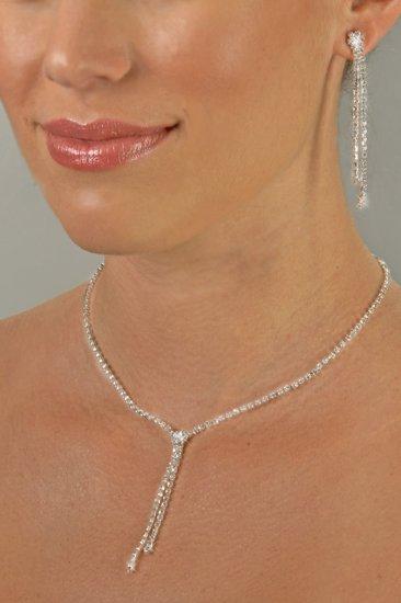 Sleek and Sexy Rhinestone Necklace Set
