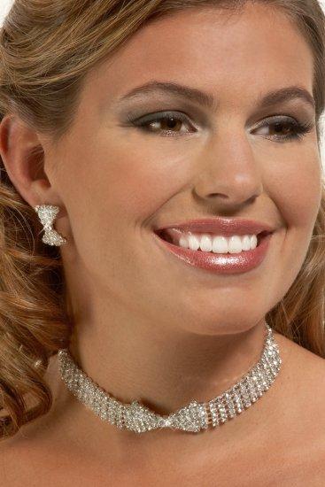 Crystal Bowtie Rhinestone Necklace Set