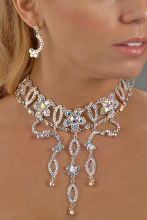 Exotic AB Rhinestone Necklace Set