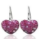 Ruby & Sapphire Heart Earrings