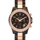Round Tortoise Glitz Watch