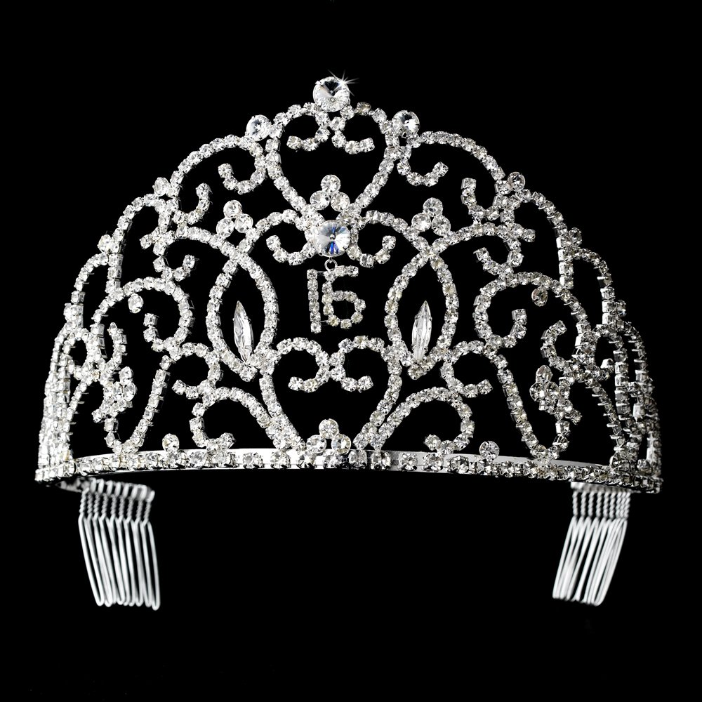 Regal Sweet 16 Sixteen Birthday Rhinestone Tiara Crown